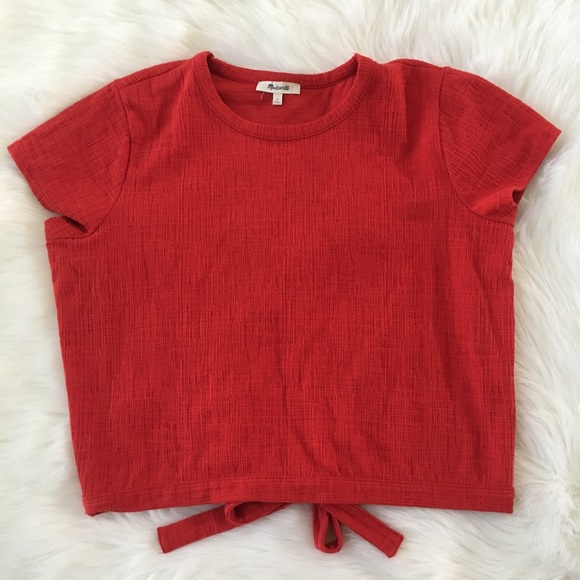 23eaf32911f2b Madewell Tops - Madewell Large Verse Tie-Back Open Back Top Red